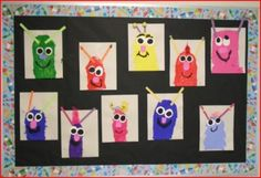 read monster stories when doing the letter M and paint these