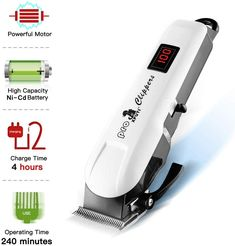 XPUTI Dog Grooming Clippers Rechargeable Low Noise Cordless Upgrade Heavy Duty Electric Cat Dog Grooming Kit for Thick