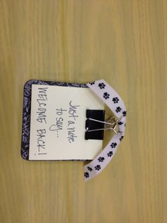 Post it notepad on cardboard coaster was the favor for the teacher luncheon. School Stuff, Back To School, Pta, Teacher Appreciation, Teacher Gifts, Coaster, School Ideas, Favors, Shelf