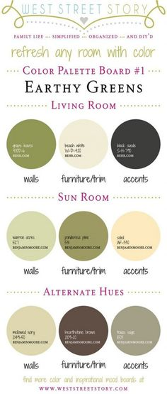 Spring Inspired Paint Colors. New and fresh paint colors to refresh any room in your home. Behr Grape Leaves. Behr Beach White. Behr Black suede. Benjamin Moore Warren Acres. Benjamin Moore Ponderosa Pine. Benjamin Moore Soleil. Benjamin Moore Melowed Ivory. Benjamin Moore Hearthstone Brown. Benjamin Moore Texas Sage. #BehrGrapeLeaves #BehrBeachWhite #BehrBlacksuede #BenjaminMooreWarrenAcres #BenjaminMoorePonderosaPine #BenjaminMooreSoleil #BenjaminMooreMelowedIvory…