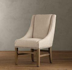 Nailhead Fabric Armchair