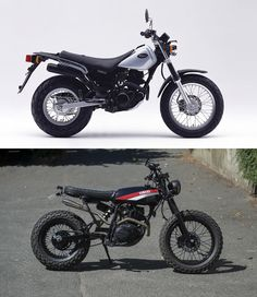 TW Yamaha 125 custom, before and after, by Lost Mechanics. Yamaha Tw 125, First Time Driver, Best Car Insurance, Yamaha Motor, Scrambler, Motorbikes, Photo And Video, Vehicles, Decal