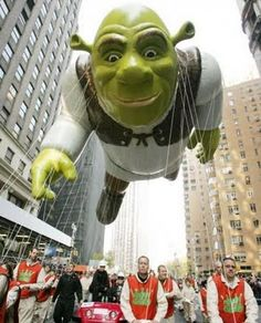This cool balloon was paraded during the 81st annual Macy's Thanksgiving Day Parade in New York City