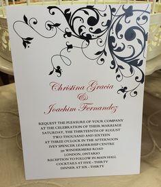 Windermere, Oclock, Reception, Marriage, Invitations, Bride, Paper, Casamento, Wedding Bride