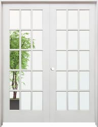 Builderu0027s Choice 48 In. X 80 In. 10 Lite Clear Wood Pine Prehung Interior  French Door | Prehung Interior French Doors, Interior French Doors And Pine