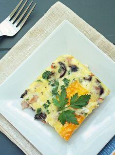 Ham, Cheese & Mushroom Frittata