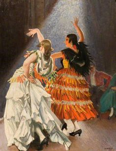 The Rehearsal, 1923, by Dame Laura Knight (English, 1877-1970)