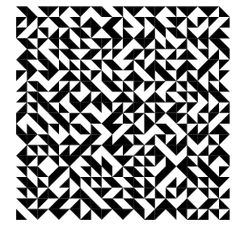 Truchet Tiling - In 1704, Sebastien Truchet considered all possible patterns formed by tilings of right triangles oriented at the four corners of a square (Wolfram 2002, p. 875).