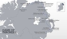 Game of Thrones Itinerary Map http://www.ireland.com/en-us/itineraries/northern-ireland/got-itinerary/ A MUST DO!
