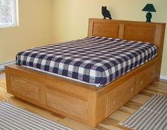 custom beds bed frame with storageplatform - Twin Bed Frame With Drawers