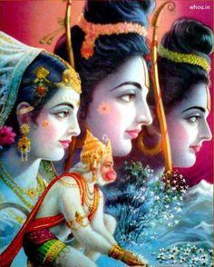 Rama and Sita with Hanuman. Hindu God and Goddess. Bhagavad Gita, Ram Sita Image, Shree Ram Images, Shri Ram Photo, Rama Lord, Shri Ram Wallpaper, Lord Rama Images, Lord Hanuman Wallpapers, Shri Hanuman