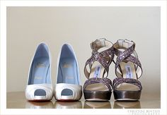Mother and brides shoes....in love! or bride and maid of honor