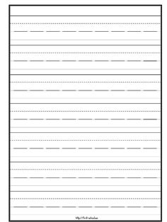 Early writer paper template