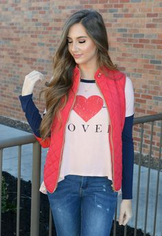 Red HAUTE Quilted Vest