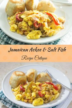 An authentic Jamaican breakfast of ackee and salted cod fish that will make you believe you woke up on the beautiful island of Jamaica Jamaican Cuisine, Jamaican Dishes, Jamaican Recipes, Salt Fish Recipe Jamaican, Jamaican Restaurant, Entree Recipes, Cooking Recipes, Healthy Recipes, Brunch Recipes
