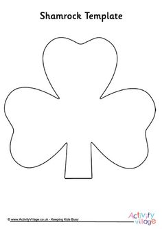 shamrock cut out template - 1000 images about st patrick 39 s day activities for kids on