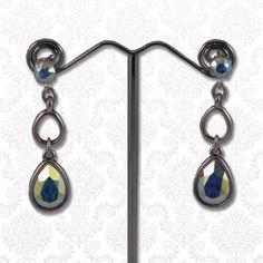 Swarovski druppels Crystal AB  Mooie elegante oorbellen bestaande uit meerdere druppels en Swarovski elements kristallen