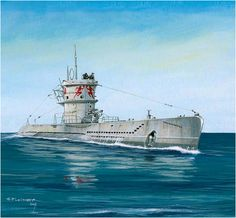 "U-Boat Type VII. U-552 is the 'Der Rote Teufel ""(Red Devil - Red Devil)…"