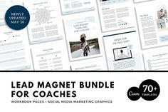 Ad: Calling all coaches who want to grow their leads and email lists. Want to grow your email list fast and get more leads to build your business further? This lead magnet bundle for coaches is strategically designed by a coach for coaches. They're quick and easy to edit using Canva too. Includes: 50 Workbook Pages to CREATE your lead magnet   23 Social Media Marketing Graphics. $39 #leadmagnet #onlinecoaching #coachingtools #contentcreation #onlinebusiness