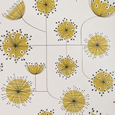 mod dandelion wallpaper, this would be cool in the kitchen.