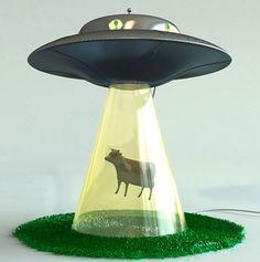 The Alien Abduction Lamp