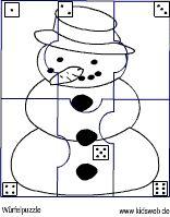 Würfel-Schneemann Preschool Education, Nursery School, Lesson Plans, Coloring Pages, Snowman, Fall Winter, Snoopy, Symbols, Activities