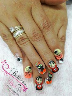 Love Nails, Red Nails, White Nails, Halloween Nail Art, Halloween Design, Subtle Nail Art, Holiday Nails, French Nails, Nail Art Designs