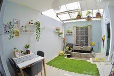 Desain Rumah Unik Tipe 45 m: Meski Mungil, Ada Indoor Garden! Home Interior Design, House Rooms, Home Room Design, House, Home, Minimalist House Design, Minimalist Home, Indoor Design, Home Decor