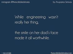 Sorry dreams. - Surjatapa While CA wasn't really her thing, The smile on her mother's face made it all worthwhile. Words Hurt Quotes, True Love Quotes, Amazing Quotes, True Words, Tiny Stories, Short Stories, Story Quotes, Life Quotes, I Love My Father