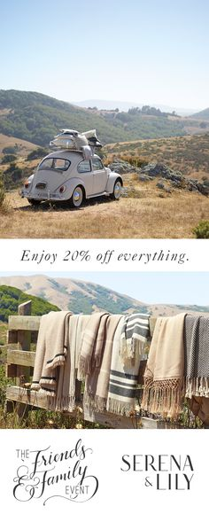 Enjoy 20% off EVERYTHING at the Serena and Lily Friends & Family Event until Oct. 16th! Share with your friends and family and shop now!