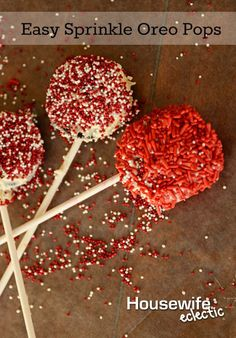 Pink and red have been every where in our house this month. We love adding a little bit of Valentine's Day love to all of our favorite treats and cookies are no exception. These Oreo pops are easy to make, and more fun than just a single cookie usually is! You will need: Popsicle sticks …