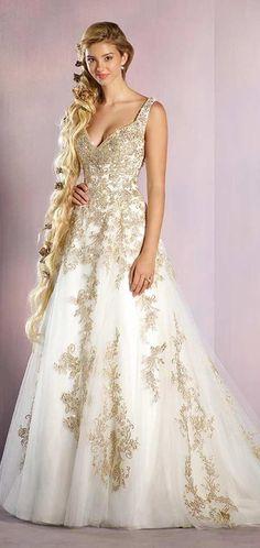 2f76504e3cea6 Alfred Angelo Disney Fairy Tale Weddings Bridal Collection 255 Rapunzel  A-Line Wedding Dress