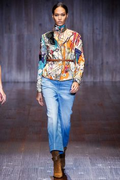 Gucci Spring 2015 Ready-to-Wear Fashion Show - Joan Smalls