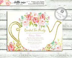 7dfdc884b06 Love is Brewing Bridal Shower Invitation - Garden Tea Party - High Tea  Invite - Bridal Tea - Wedding Shower - Printable -