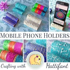 DIY Clay Mobile Phone Holders - Follow me along in a video tutorial and I will show you how to make your own beautiful decorative item to hold your phone.