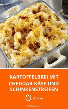 Kartoffelbrei mit Cheddar-Käse und Schinkenstreifen - smarter - Zeit: 40 Min. | eatsmarter.de