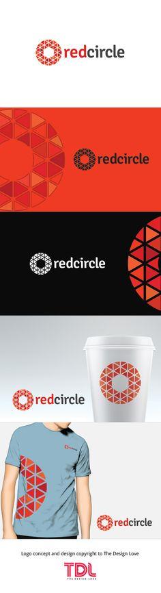 Premium Red Circle Logo for Start Ups!