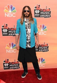 But Kanye isn't the only one, Jared Leto wore a skirt down the red carpet last May. | 33 Men Rocking Skirts