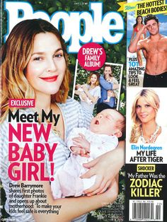 Drew Barrymore introduces her baby daughter Frankie