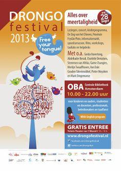 Drongo Festival: festival over meertaligheid in Amsterdam voor kinderen, ouders, leerkrachten, begeleiders en alle geïnteresseerden Amsterdam, Film, Concert, Image, Movie, Film Stock, Cinema, Concerts, Films