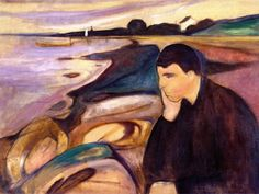 Melancholy ~ Edvard Munch                                                                                                                                                                                 Mais