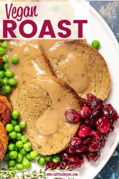 A simple, easy, rustic and hearty Vegan Roast that's sliceable, ultra tender and full of flavour. Just perfect for serving with copious amounts of gravy, roast potatoes and all the trimmings. Leftovers are great in sandwiches too! Vegan Christmas, Vegan Thanksgiving, Vegan Yorkshire Pudding, Vegan Meat Substitutes, Vegan Dinner Recipes, Vegan Roast Dinner, Raw Recipes, Veggie Recipes, Recipies