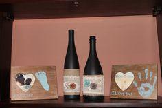 Negro Chic arpillera botellas de vino botellas por ErikaShaeDecor