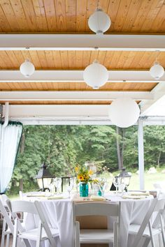 Rustic garden decor with wildflowers   Mountain Lakes House Wedding in Princeton, NJ © Angelina M. Photography, LLC
