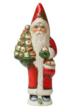 Vaillancourt 'Santa Holding Tree with Ornaments' Figurine available at #Nordstrom