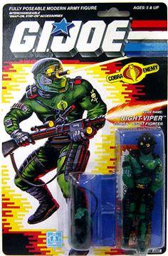 "GI Joe Hasbro 3 3/4"" Vintage Action Figure Night-Viper [Version 1]"