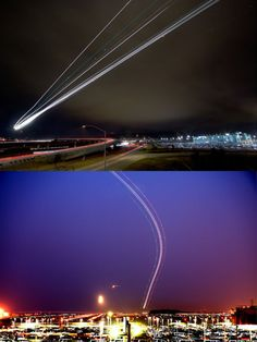 Long exposure airport pictures