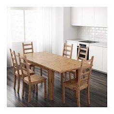 IKEA - STORNÄS, Stół rozkładany, W komplecie jeden blat do rozłożenia.Przedłużany stół jadalniany z dodatkowym blatem dla 4-6 osób; rozmiar stołu można dopasować do potrzeb.Dołączony dodatkowy blat możesz przechowywać w zasięgu ręki pod blatem stołu.Lita sosna; naturalny materiał, który pięknieje z wiekiem.