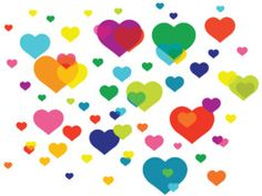 Overlapping hearts removable wallpaper