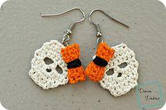 Sally Skulls Earrings | Featured at Tuesday Treasures #15 via @beckastreasures with @divinedebrisweb | #crochet